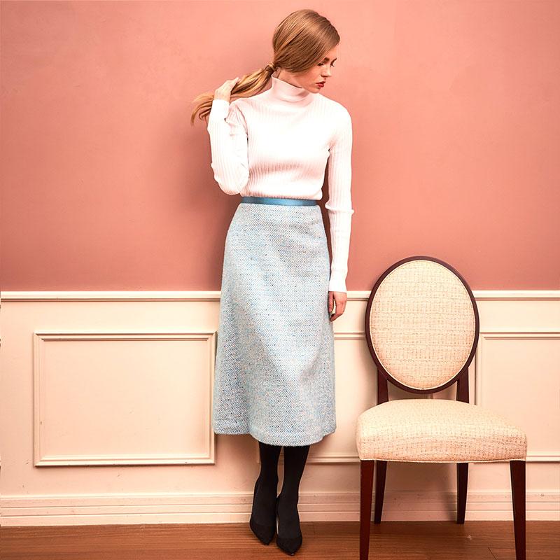 AWカラーツイードスカート
