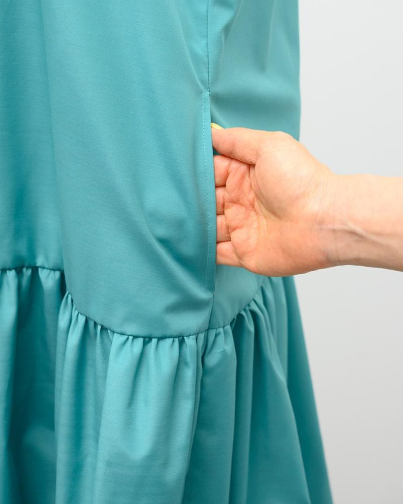 《受注》sleeveless gathered maxi onepiece