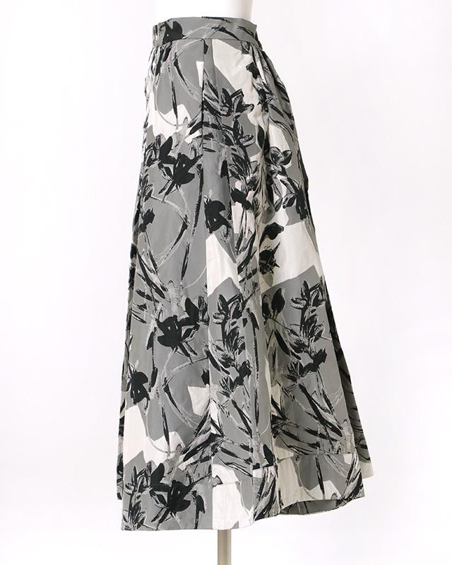 【final mark down sale50%OFF】floral jacquard midi skirt
