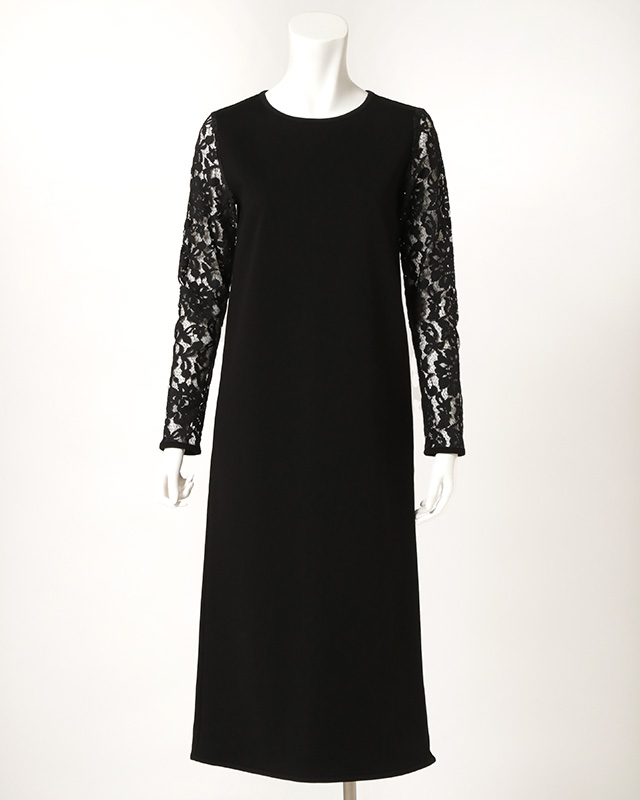 【final mark down sale50%OFF】arm lace long onepiece (black)