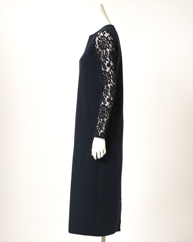 【final mark down sale50%OFF】arm lace long onepiece (navy)