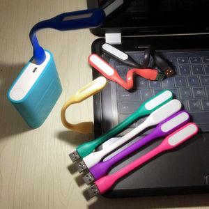 ミニ LED ライト USB 接続 モバイルバッテリー や PC に取付けて フレキシブル アーム 読書や細かい作業に 電池不要 スタンド ランプ シーリング オレンジ