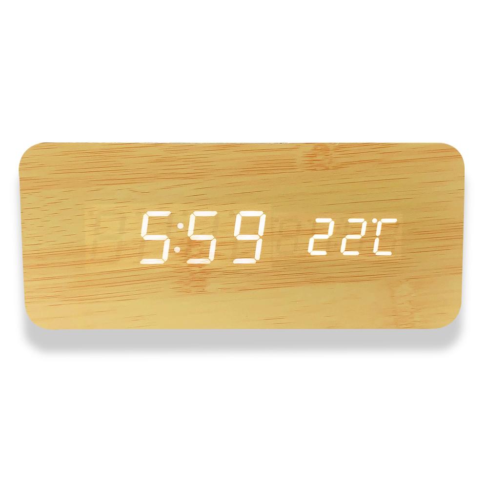 Qi ワイヤレス充電器 置き時計 置時計 デジタル おしゃれ 北欧 木目調 アンティーク android iphone 充電器 置くだけ ワイヤレスチャージャー Xperia Galaxy Google Pixel 温度 日付 カレンダー 寝室 リビング ナチュラルブラウン ベージュ