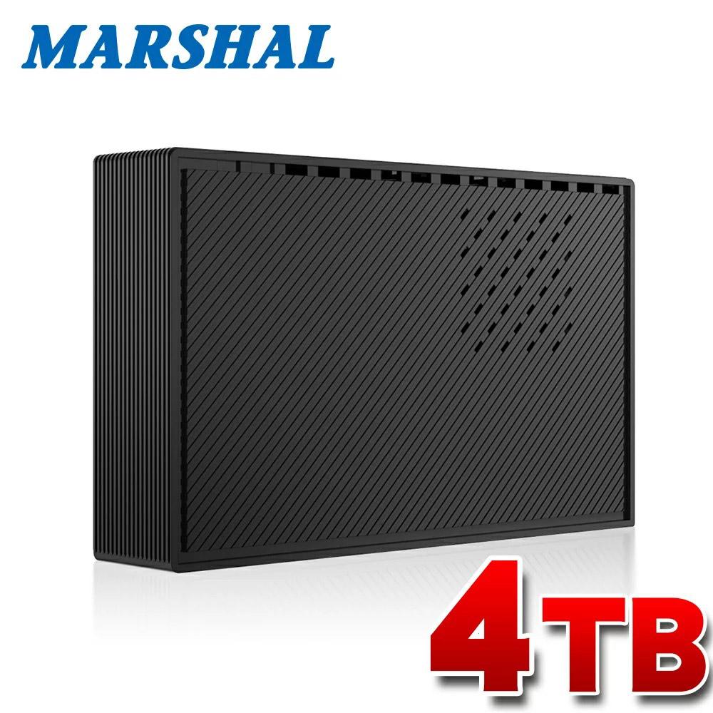 "MARSHAL 外付 TV録画対応 4TB 静音 HDD PS4 動作確認済  省エネ 6ヶ月 保証 USB3.0 ハードディスク 3.5"" (MAL34000EX3-BK-6TH)"