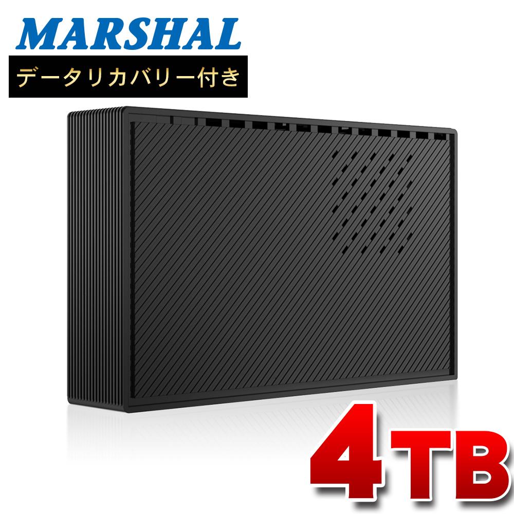 "FFF SMART LIFE CONNECTED 外付 TV録画対応 4TB 静音 HDD PS4 動作確認済  省エネ 1年保証 USB3.0 ハードディスク 3.5"" データ復旧サポート F304E3-BK-5TH"