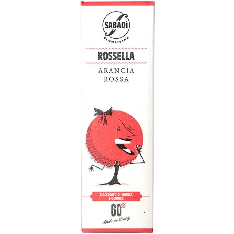 チョッコラート・ディ・モディカ・ロッセッラ(ブラッドオレンジのピール)サバディCioccolato di Modica Rossella  Sabadi