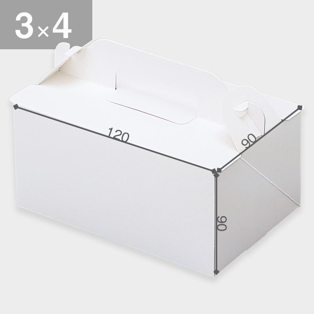パッケージ中澤 OPL-ホワイト 3×4(90×120×90mm) 50枚