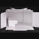 パッケージ中澤 H120 TSD 白ム地 6寸用(216×214(+20)×120mm) 100枚