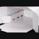 パッケージ中澤 H140 TSD 白ム地 6寸用(217×214(+20)×140mm) 100枚