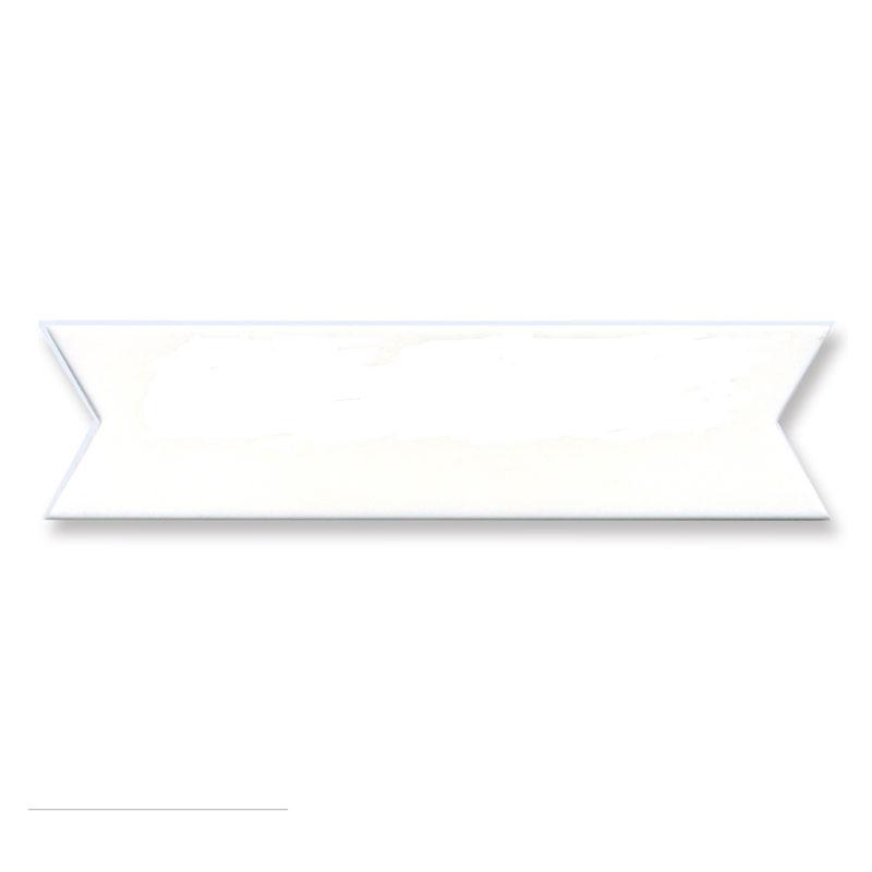 キュート マジパン 無地白台 矢羽形 2.3×9.5cmCT 70個(夏季冷蔵)