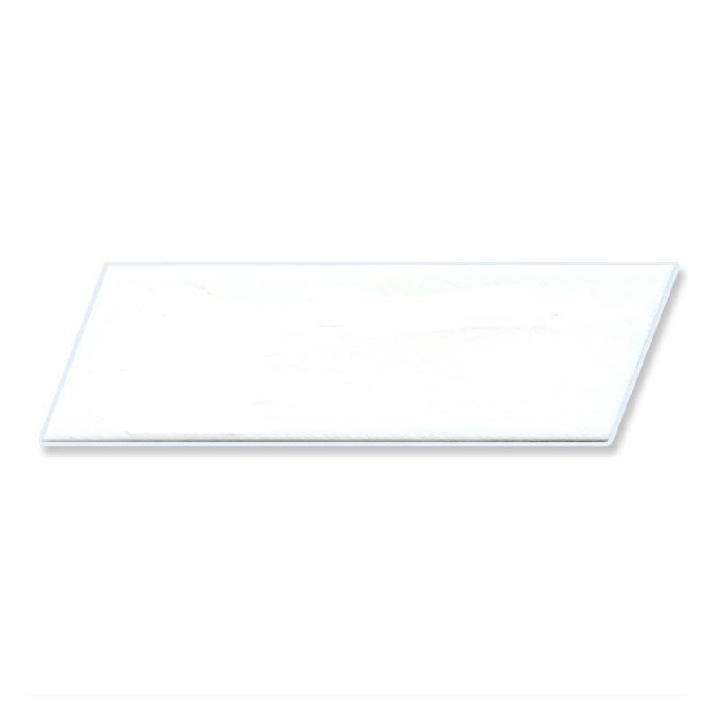 キュート マジパン 無地白台 平行四辺形 3×10cmCT 40個(夏季冷蔵)