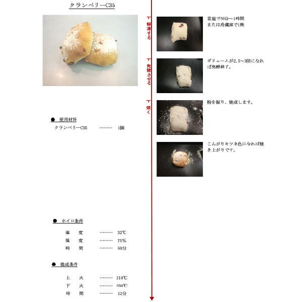 イズム 冷凍パン生地 クランベリーC35 / 35g×140個