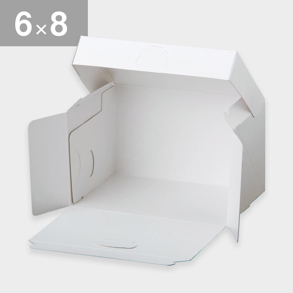 パッケージ中澤 ロックBOX105-ホワイト 6×8(180×240×105mm) 25枚