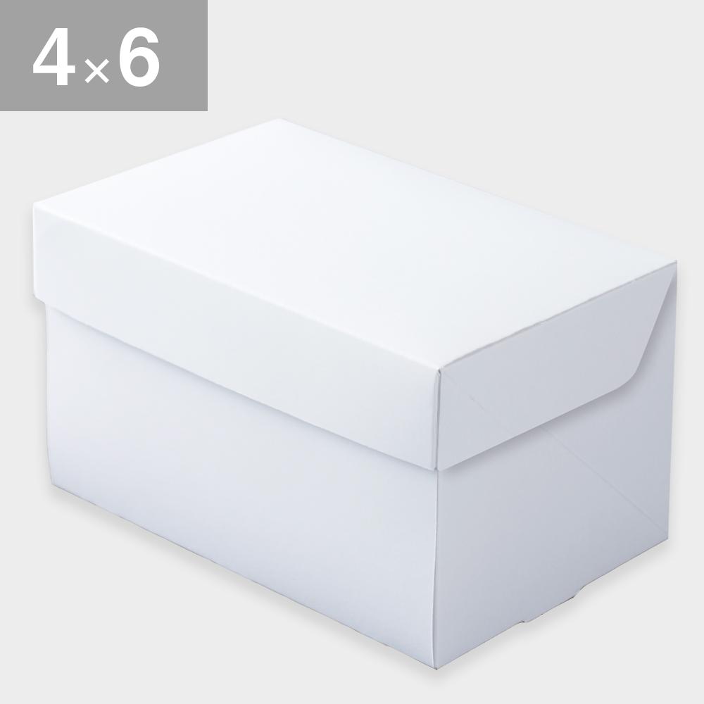 パッケージ中澤 CP105-ホワイト 4×6(120×180×105mm) 50枚
