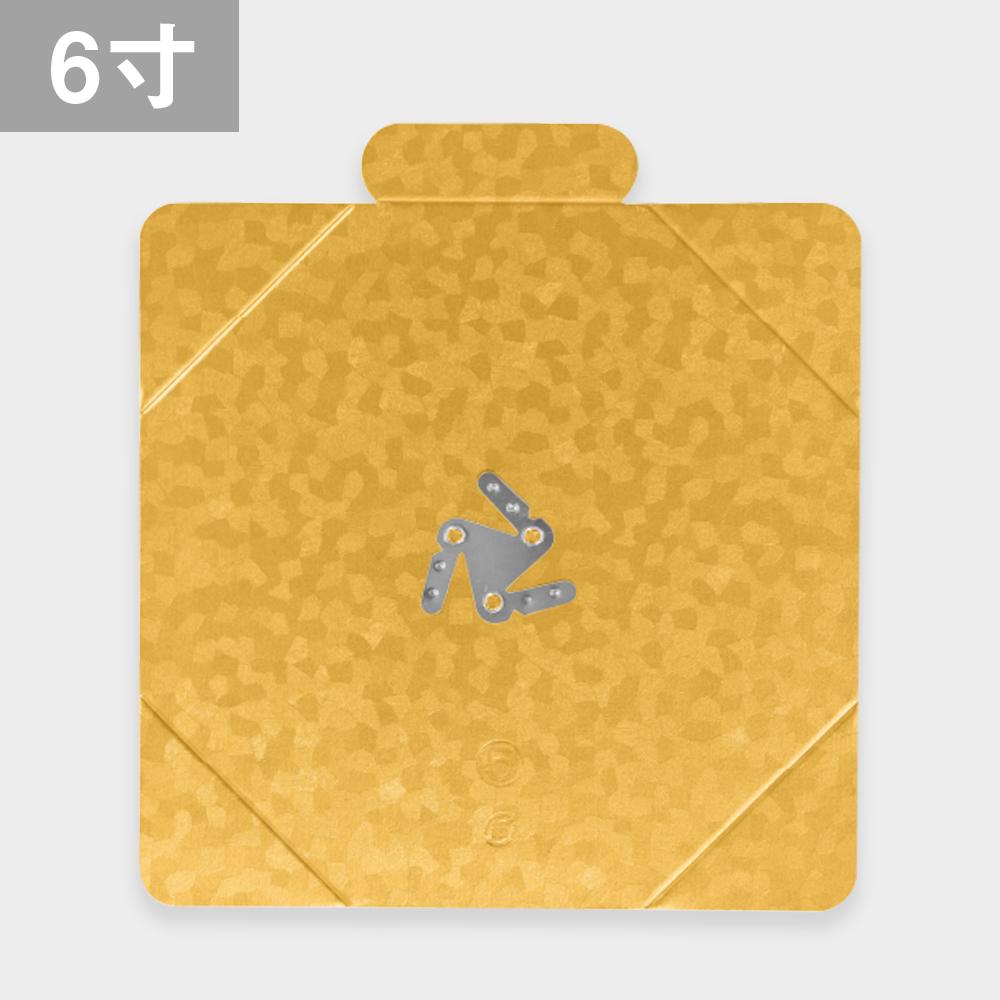 パッケージ中澤 金角トレー 6寸 25枚