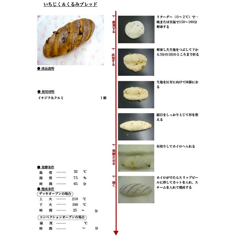 イズム 冷凍パン生地 イチジク&クルミブレッド / 250g×24個