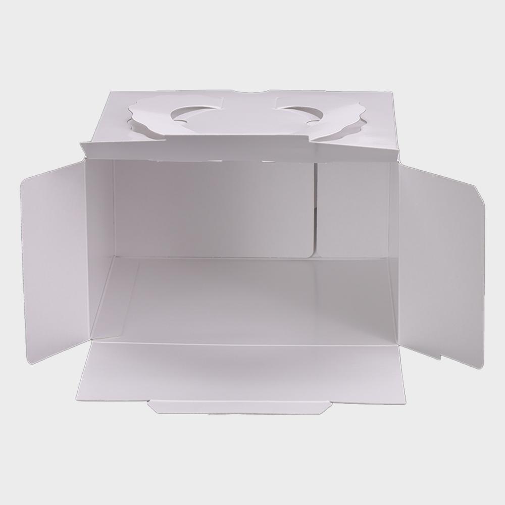 パッケージ中澤 H140 TD 白ム地 6寸用(212×212×140mm) 25枚
