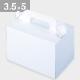 パッケージ中澤 105OPL-ホワイト 3.5×5(105×150×105mm) 50枚