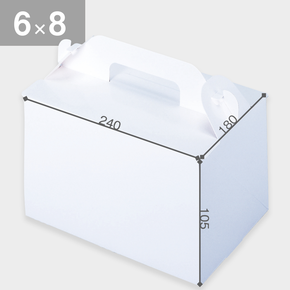 パッケージ中澤 105OPL-ホワイト 6×8(180×240×105mm) 50枚