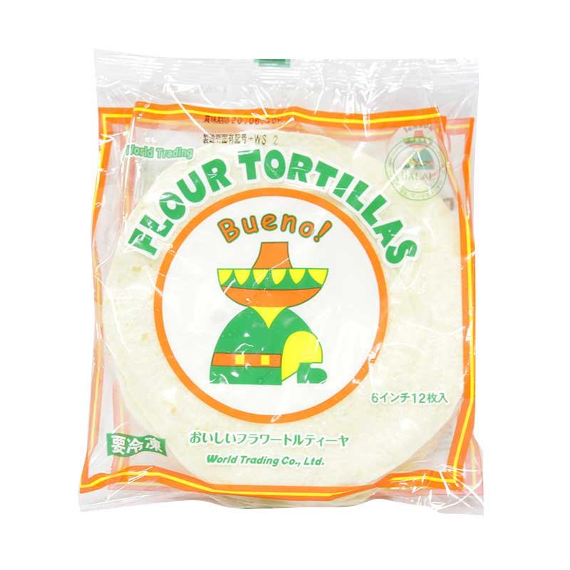 フラワートルティーヤ FLOUR TORTILLAS 6インチ 12枚入(冷凍)