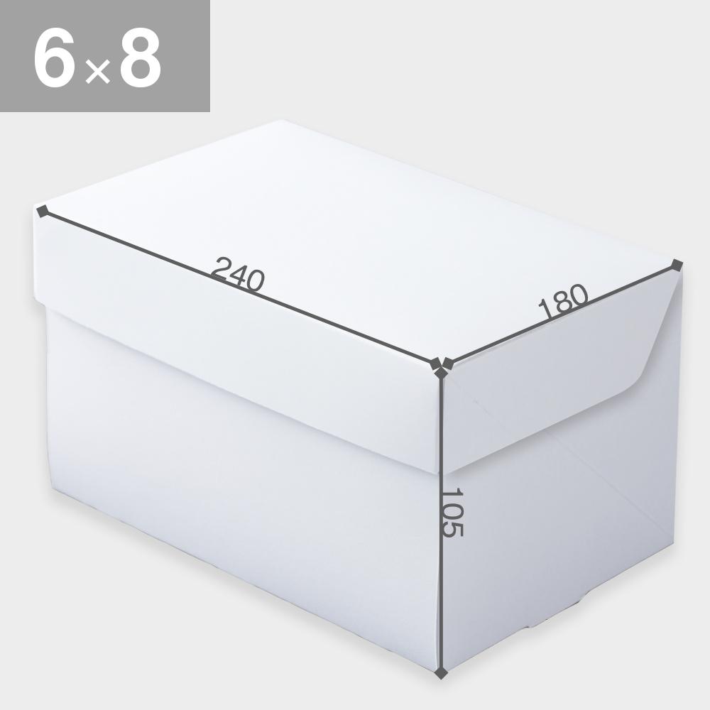 パッケージ中澤 CP105-ホワイト 6×8(180×240×105mm) 25枚