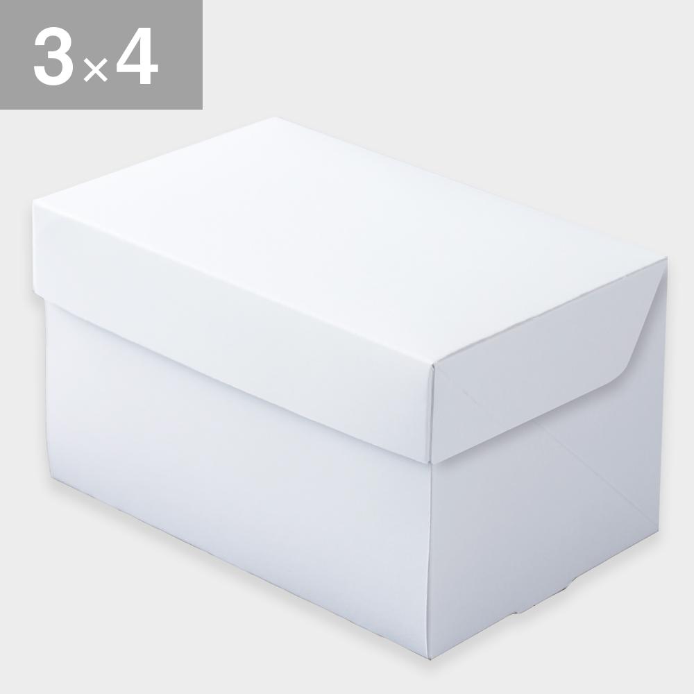 パッケージ中澤 CP105-ホワイト 3×4(90×120×105mm) 50枚