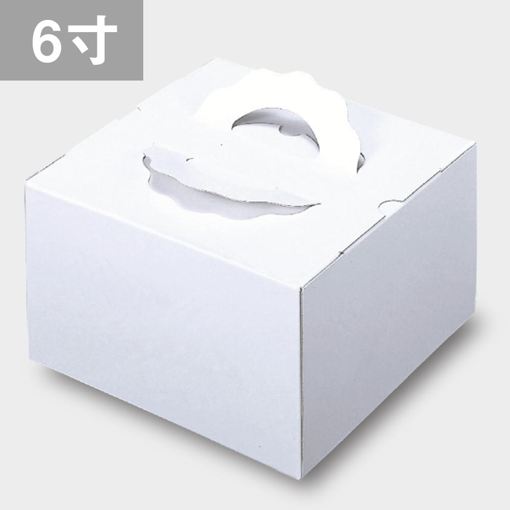 パッケージ中澤 TD 白ム地 6寸用(212×212×120mm) 50枚