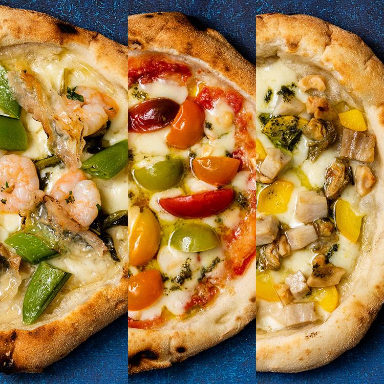 【季節の厳選食材を使った期間限定】旬の厳選3枚 ナポリピザセット