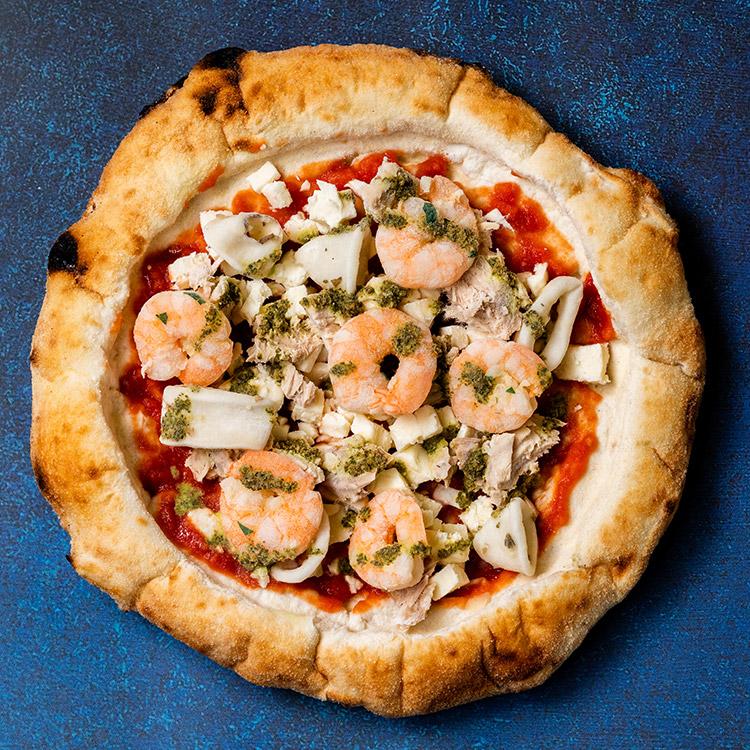 ペスカトーラ(シーフードのピザ)