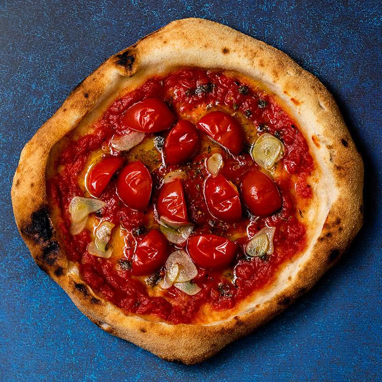 マリナーラ アル フィレット(くし切りトマトとマリナーラのピザ)