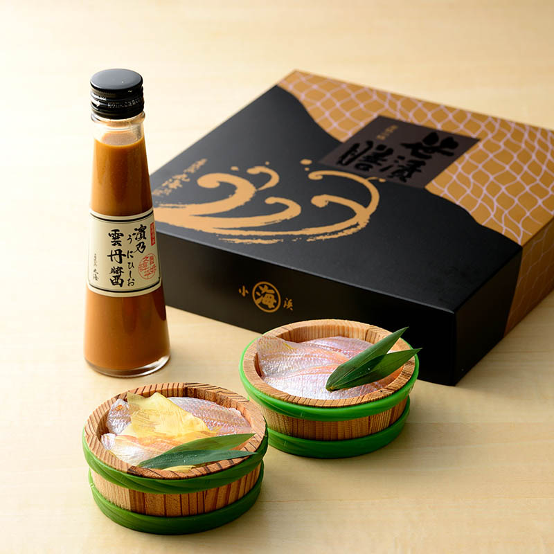 雲丹ひしお膳 (小鯛ささ漬・小鯛昆布〆・雲丹ひしお)
