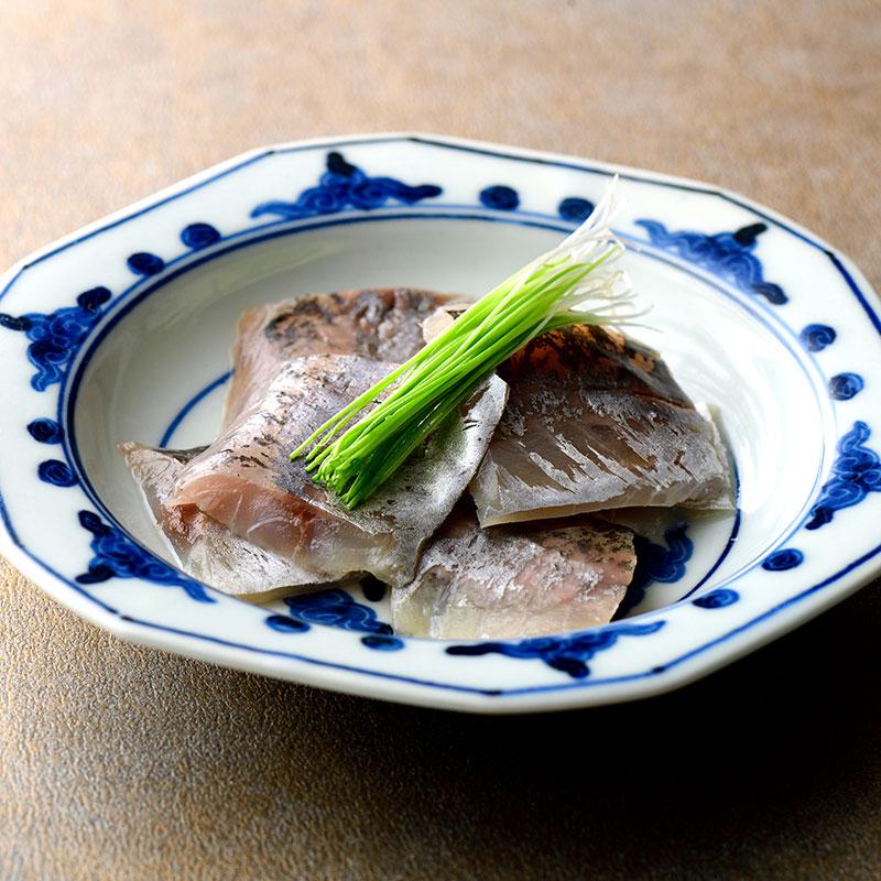 笹漬三昧 (小鯛・金目鯛昆布〆・小アジ)