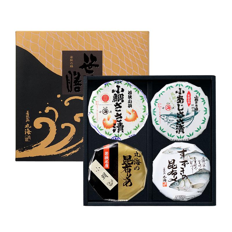 【送料無料】4膳(小鯛・小あじ・小昆・すずき昆)