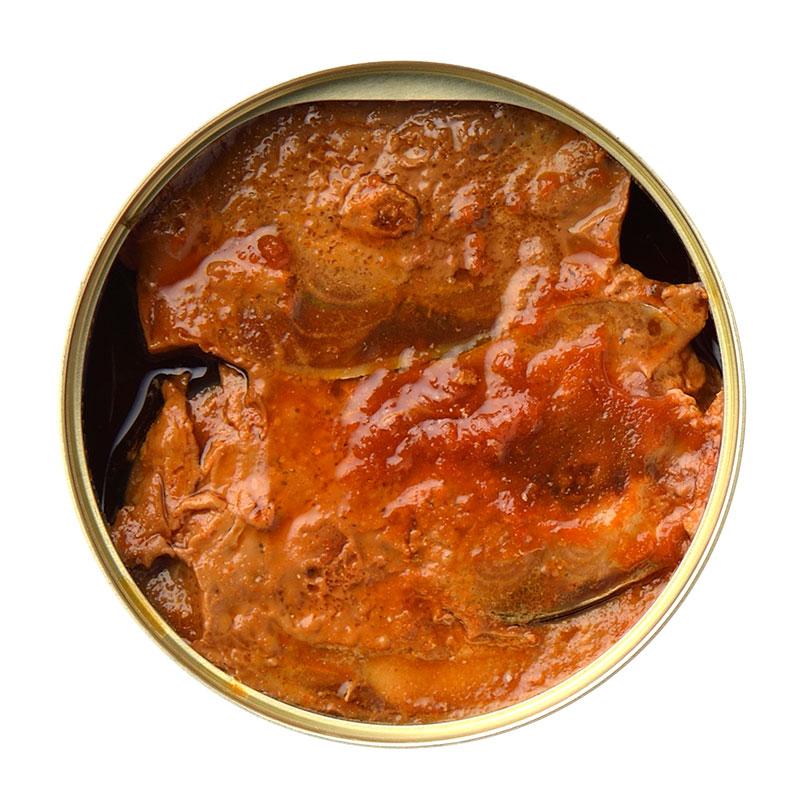 唐辛子入鯖味付缶
