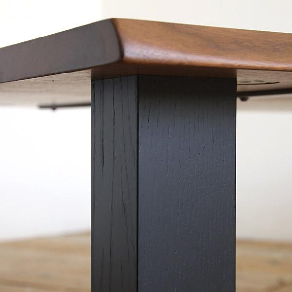 高山ウッドワークス ローテーブル 天板ウォールナット 【天厚28mm】 無垢材 オーダー 幅120-210cm