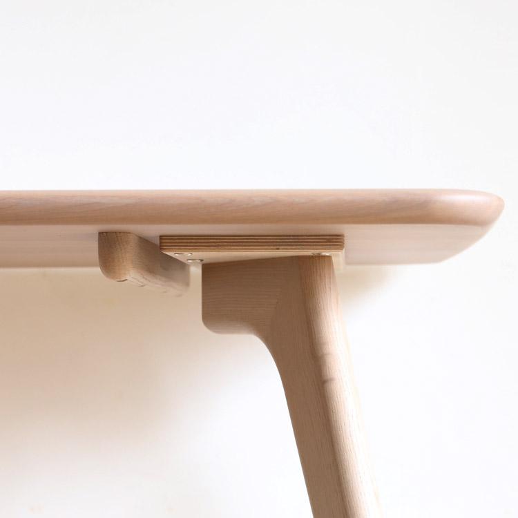 日進木工 Sof(ソフ) ダイニングテーブル オーク 無垢材 幅160cm