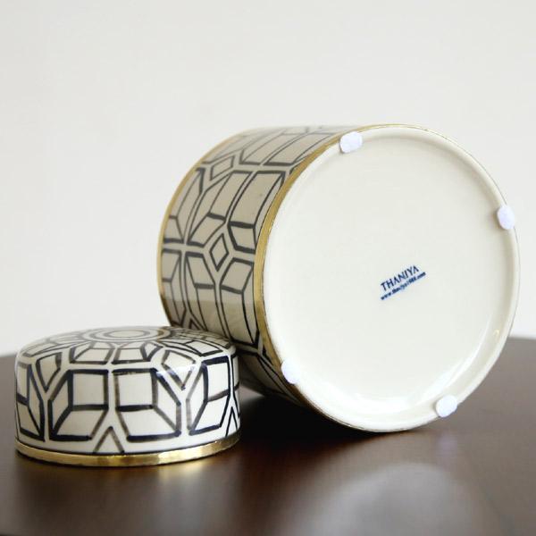 セラミック ボックス 小物入れ 陶磁器 SMサイズ