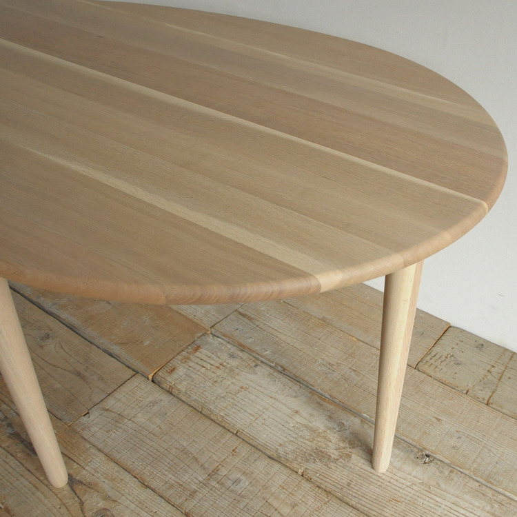 日進木工  coty(コティ) ダイニングテーブル 無垢材 幅120/150cm