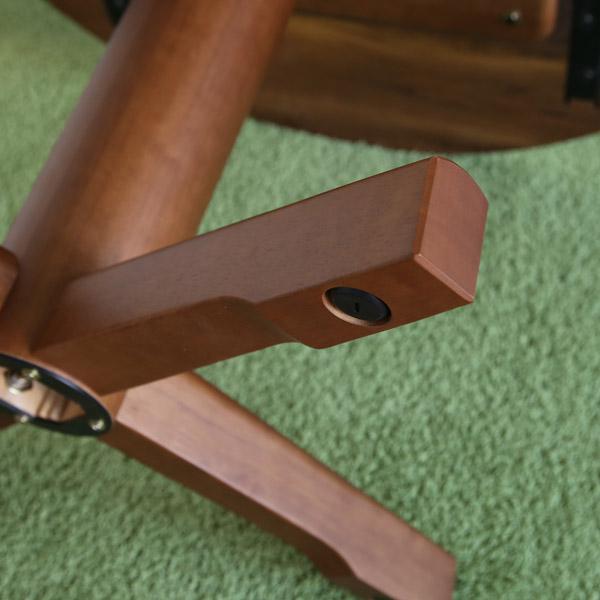 ガルボ 円形ダイニングテーブル ウォールナット 1本脚