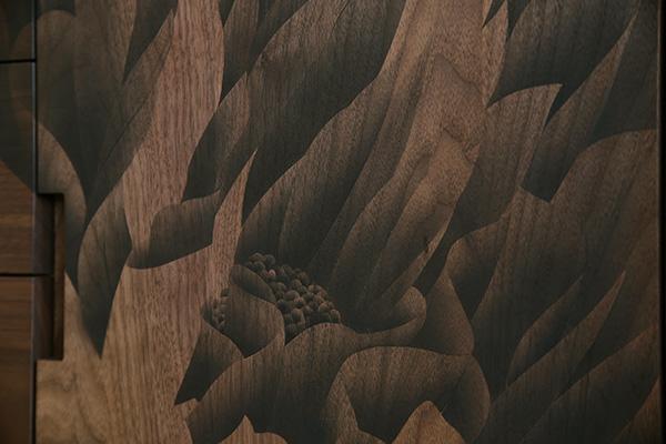 陽炎(カゲロウ)リビングボード ウォールナット 「アート家具 1点1点作家が描きます」 「ご要望に応じて家具の作品化承ります」