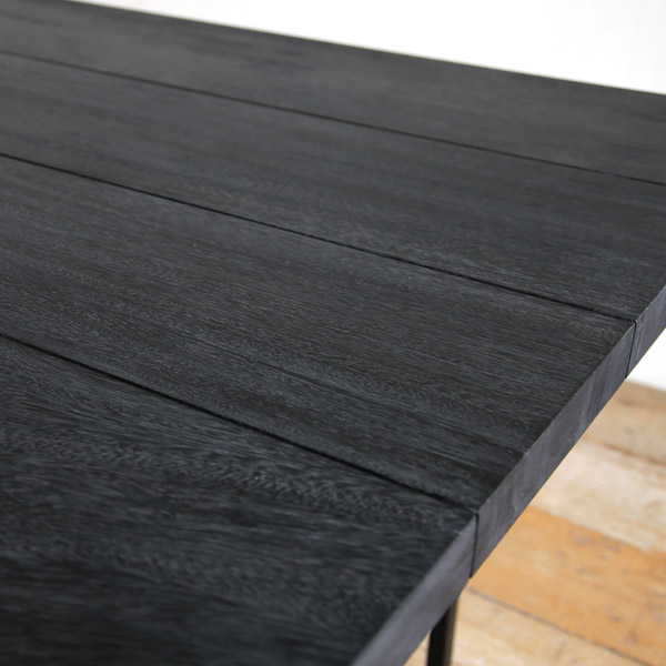 一枚板 ダイニングテーブル 180 グレー SENSO d VITA(センソ デ ヴィッタ)