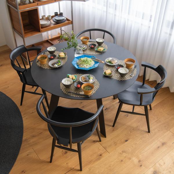 バーリン 円形 ダイニングテーブル 100 110 120 丸テーブル