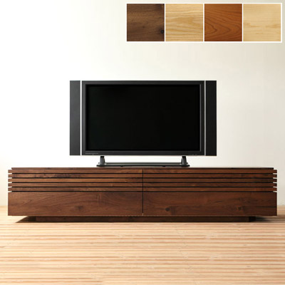 コレンテ テレビ台 テレビボード ウォールナット 無垢 格子 高級家具