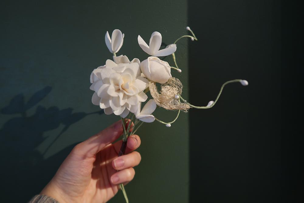 アートフラワー 8本セット デコレーション オブジェ 造花 DIY 人工植物