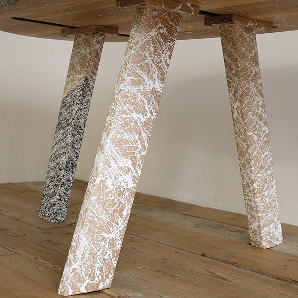 アートテーブル ダイニングテーブル 【高蔵染とマルキン家具のコラボ】