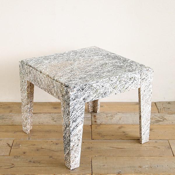 アートテーブル サイドテーブル オーク材 無垢 正方形 【高蔵染とマルキン家具のコラボ】