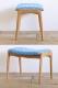 日本製の椅子 × クヴァドラ生地 × 皆川明デザイン おしゃれな玄関椅子 ノース オットマン 【タンバリン ハリンダル】【生地の在庫要確認】