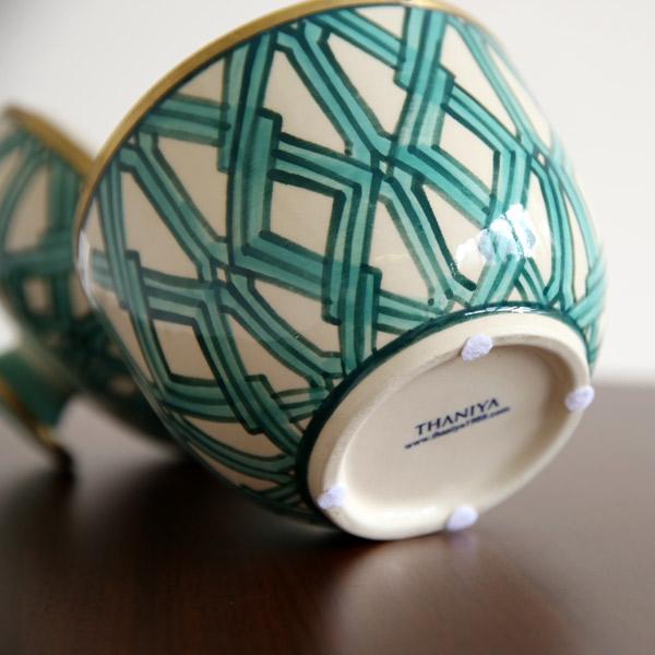 SENSO d VITA(センソ デ ヴィッタ) セラミック キャンドル M/L グリーン フレグランスキャンドル 陶器入り