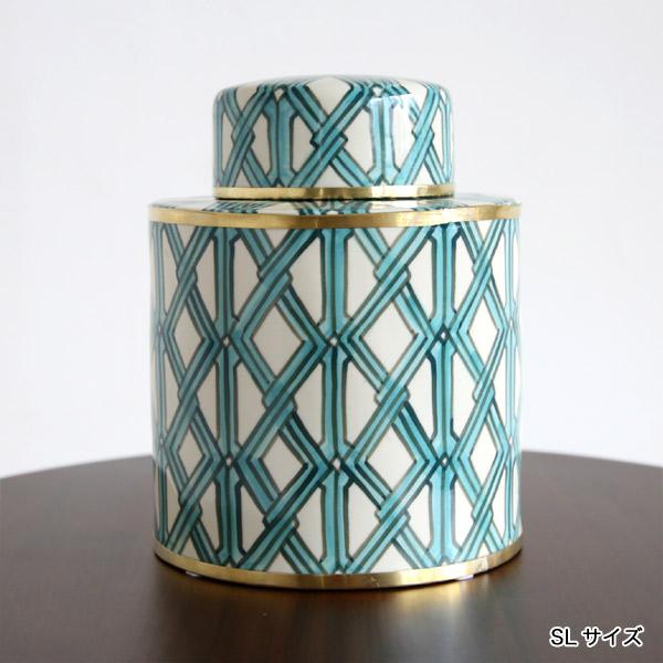 SENSO d VITA(センソ デ ヴィッタ) セラミック ボックス 小物入れ 陶磁器 おしゃれ グリーン
