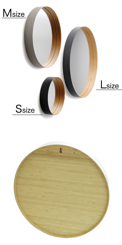 TEORI(テオリ) 壁掛けミラー ZERO(ゼロ) Sサイズ 直径26